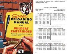Speer 1959 Wildcat Rifle Loads Volume 4