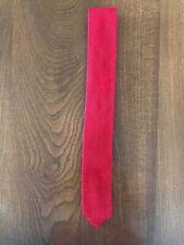 MARKS & SPENCER slim skinny knitted tie. Red.