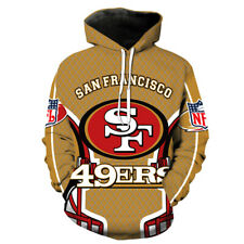 SAN FRANCISCO 49ERS Hoodie Hooded Pullover S-5XL Football Team Fans NEW Designs