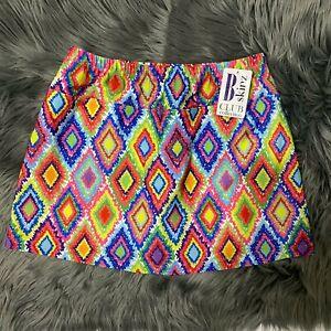 B Skinz Womens Tennis NWT Skort Skirt Size M Golf Activewear Multicolor #1239