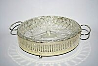 H.Samuel Silver Plated And Glass Hors D'Oeuvre Dish The Jewellers Collection UK