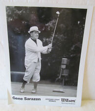 B & W PHOTO GENE SARAZEN WILSON GOLF STAFF