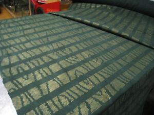 Novasuede Dark Green Gold Lines Suede Fabric 10m Boat Camper Motorhome Caravan