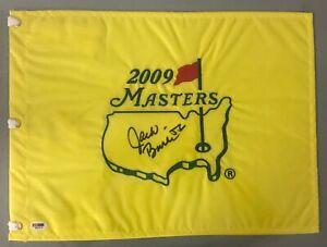 Jack Burke Signed 2009 Masters Golf PGA Pin Flag AUTO PSA/DNA Sticker Only