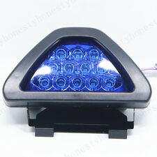 Car Rear Tail Brake Stop Light Taillight Blue Strobe Fog DRL Flash 12 LED Lamp