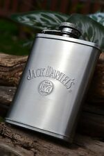 Jack Daniels 3oz Hip Flask - Stainless  - Licensed - Embossed - Old No. 7