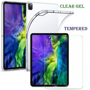 """Tempered Glass Screen Protector Gel Case Cover  for iPad Pro 11"""" 12.9"""" 2020/2018"""