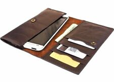 Genuine leather Case for Galaxy s5 HTC One M7  LG G2 Slim Design Universal brown