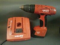 "HILTI SF 150-A 15.6V NiCd 1/2"" CORDLESS DRILL DRIVER W/ BATTERY AND CHARGER"