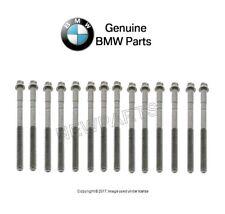For BMW E30 325i 325iC E28 E34 Cylinder Head Bolt Set of 14 Genuine 11121726478