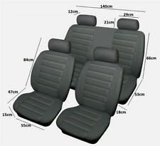 FULL SET OF GREY SOFT LEATHER LOOK CAR SEAT COVER DRINK SPILL PROTECTORS