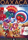 """Vintage Illustrated Travel Poster CANVAS PRINT Mexico Oaxaca 24""""X18"""""""