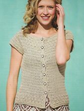 Kristy Cardigan Sweater 4 Sizes Women'S Crochet Pattern Instructions