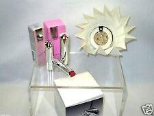 Aura SWAROVSKI CRYSTAL 3PCS Lila Rose Lipstick /Pendant /Mini Eau De Toilette