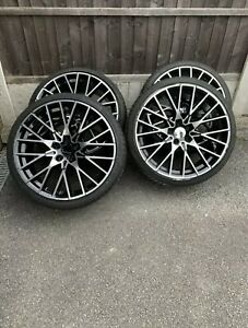 M3 M4 Competition Style 20 Inch Alloy Wheels & Accelera Tyres Staggered 5x120