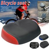 Wide Large Big Bum Bike Bicycle Seat Saddle Gel Cycling Noseless Cushion +