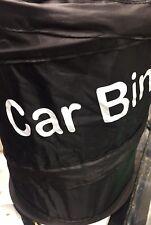 Collapsible Car Bin Water Resistant Black Litter Waste Rubbish Trash Bag Boat Uk