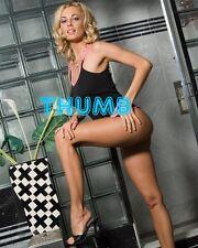 Anita Dark - 10x8 inch Photograph #008 in Pink Pants & Black Vest Top & Heels