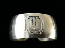 More details for true 1934 world's fair chicago bracelet bangle silver chrome style b art deco