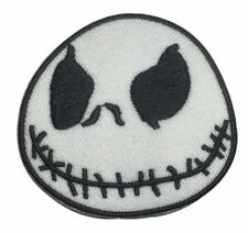 "Nightmare Before Christmas Jack Skellington 2 1/2"" Wide Iron On Patch"
