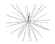 Flashing 60 LED Hanging Pole Star Christmas Star Light 45cm Warm White - Silver
