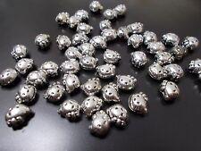 100pcs 10mm x 8mm HELLO KITTY Acrylic Beads - TIBETAN ANTIQUE SILVER Cat Charms