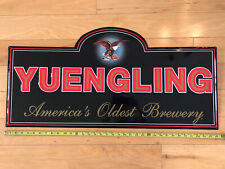 Huge Yuengling America's Oldest Brewery Embossed Beer Metal Tacker Sign Mint!!