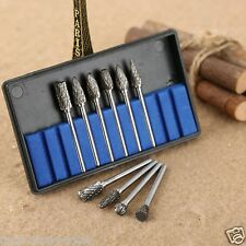 10Pc Tungsten TCT Carbide Burrs Die For Dremel Rotary Tool Grinder Drill Bit
