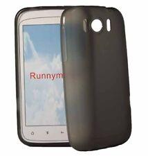 Silikon Case Smoke für HTC Sensation XL in transaprent schwarz Handyhülle Cover