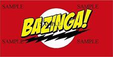 BAZINGA  DARK IRON ON T-SHIRT TRANSFER *NEW*