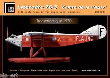 resin Latecoere 28-3 'Comte de la Vaulx' full kit 1/72 SBS Model 7001