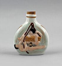 Porzellan erotische Schnupftabakdose Flakon Wagner&Apel 6x2x7cm 9942389