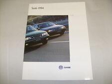 Original 1994 Saab 9000 900 Series Accessories Sales Brochure 94  /e5