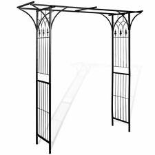 vidaXL Arco da Giardino Ferro Nero per Piante Rampicanti Traliccio Pergolato