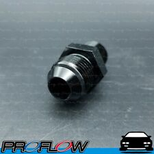 """PROFLOW Male AN To NPT Adaptor Fitting AN -8 (AN8) 3/8"""" NPT Straight Black"""