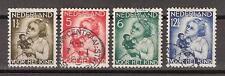 NVPH Netherlands Nederland 270 271 272 273 gest used 1934 kinderzegels Pays Bas