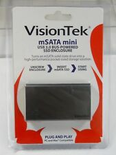 VisionTek mSATA Mini USB 3.0 BUS-Powered SSD Enclosure (NOS)(QTY 1 ea)A02-4