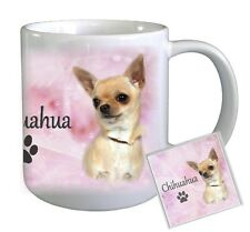 Chihuahua Dog Ceramic Mug With Coaster by Paws2print (1)