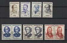 FRANCE 1958 grands médecins & savants 10 timbres oblitérés /T1900