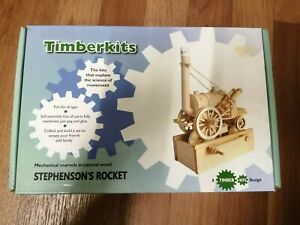 Stephenson's Rocket: Timberkits Self-Assembly Wood Construction Moving Model Kit