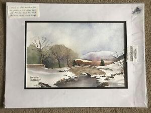 Original Painting Ashness Bridge Lake District John Bennett Watercolour Signed