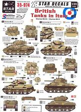 Star Decals 1/35 BRITISH TANKS IN ITALY Sherman MkIIA and Sherman Mk.III