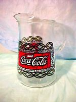 Vintage Coca Cola - Coke Glass Pitcher Large  Tiffany Style Stained Glass STYLE