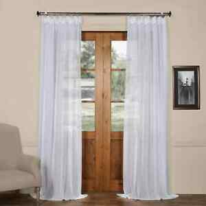 Faux Linen Sheer Curtain (Sold Per Panel)