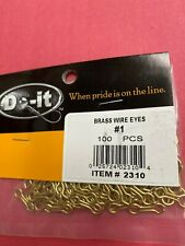 Do-It 100ct Brass wire eyes #1 Item #2310 Free Shipping!