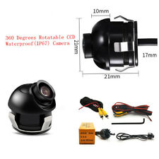 Car Blind Area Eyeball Back-up Camera Reverse Parking Monitor 360° Waterproof