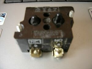 CUTLER HAMMER, VINTAGE, QUALITY, 10250T/91000T, CONTACT BLOCK, N/0 N/C CONTACTS.