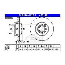 2 St. ATE 24.0120-0128.1 disco freno per VW GOLF III Variant GOLF III LUPO