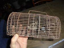 Ancien Piège à souris Cage Petite Souricière en Fil de Fer à Remanier Déco Loft
