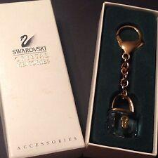 Swarovski Signed Crystal Memories Crystal Padlock Keychain Nib